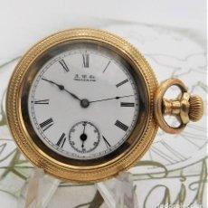 Relojes de bolsillo: AMERICAN WALTHAM WATCH.CO.-CIRCA 1889-PRECIOSO RELOJ DE BOLSILLO-FUNCIONANDO. Lote 178720596