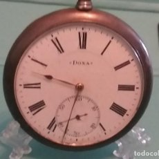 Relojes de bolsillo: PRECIOSO RELOJ BOLSILLO PLATA DOXA MEDALLA ORO MILÁN 1906. VER FOTOS.. Lote 164929294