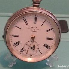 Relojes de bolsillo: ANTIGUO RELOJ BOLSILLO INGLES PLATA STERLING 0.935 MM. 52 MM. LLAVE. VER FOTOS. Lote 164930762