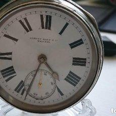 Relojes de bolsillo: ANTIGUO RELOJ BOLSILLO INGLES SEMICATALINO 160 GR. 54 MM. PIÑON DE SEGURIDAD. VER FOTOS. Lote 164948254