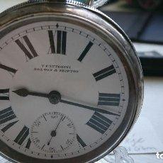 Relojes de bolsillo: ANTIGUO RELOJ BOLSILLO INGLES SEMICATALINO 170 GR. 54 MM. PIÑON DE SEGURIDAD. VER FOTOS. Lote 277202698