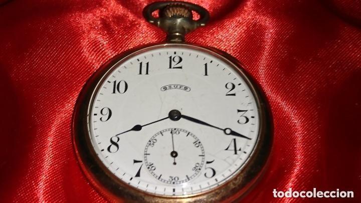 RELOJ LEGENDARIOA S.U.F. GRAND PRIX BERNA 1914 PLATA IMPRESIONANTE ESTADO CONSERVACIÓN. VER FOTOS (Relojes - Bolsillo Carga Manual)