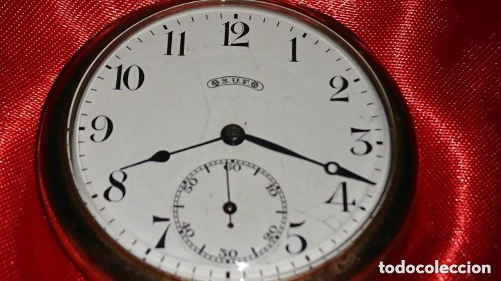Relojes de bolsillo: RELOJ LEGENDARIOA S.U.F. GRAND PRIX BERNA 1914 PLATA IMPRESIONANTE ESTADO CONSERVACIÓN. VER FOTOS - Foto 2 - 164954946