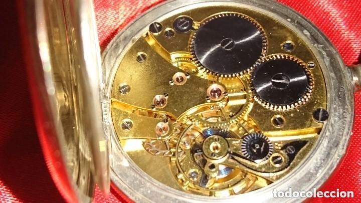 Relojes de bolsillo: RELOJ LEGENDARIOA S.U.F. GRAND PRIX BERNA 1914 PLATA IMPRESIONANTE ESTADO CONSERVACIÓN. VER FOTOS - Foto 7 - 164954946