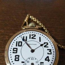Relojes de bolsillo: ESPECTACULAR RELOJ BOLSILLO WALTHAM GOLD FILLED 10 K , VER FOTOS. Lote 164956898
