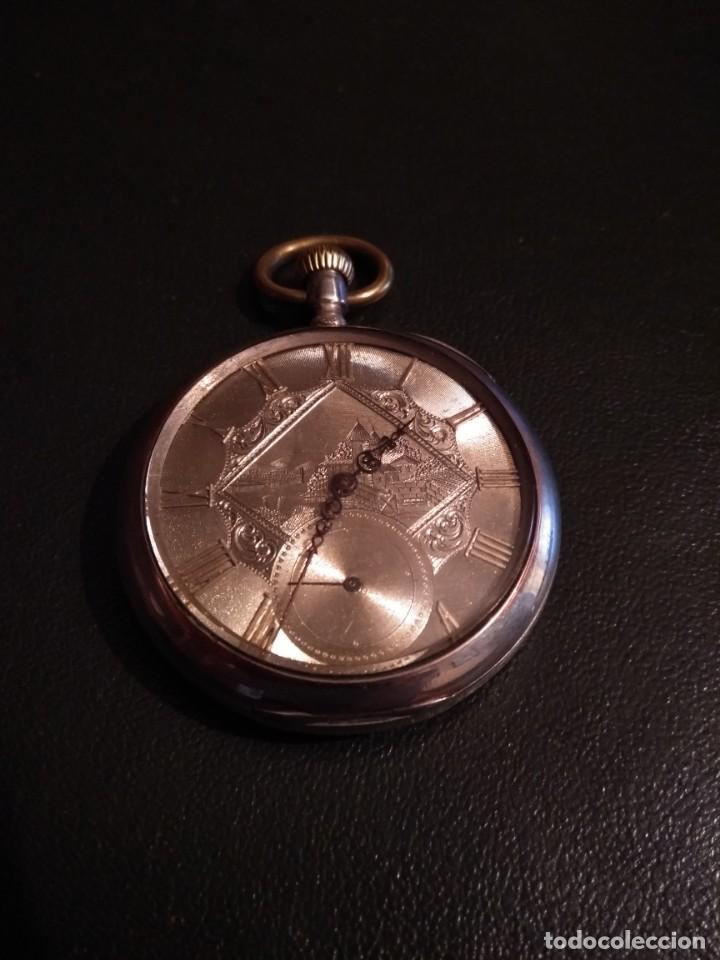 Relojes de bolsillo: Reloj de bolsillo marca SOLA de plata (Funcionando) - Foto 2 - 158698190