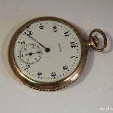 Relojes de bolsillo: RELOJ DE BOLSILLO ELCIN NATL WATCH C.O. CHAPADO EN ORO 14K. Lote 175733975