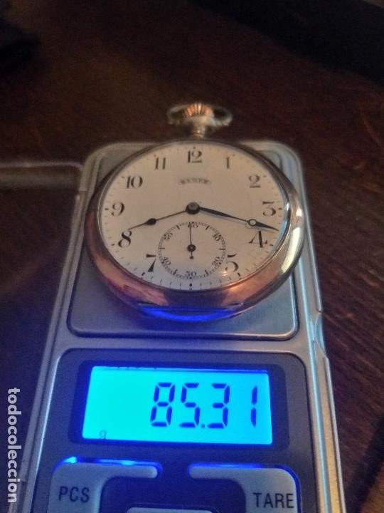 Relojes de bolsillo: RELOJ LEGENDARIOA S.U.F. GRAND PRIX BERNA 1914 PLATA IMPRESIONANTE ESTADO CONSERVACIÓN. VER FOTOS - Foto 8 - 164954946