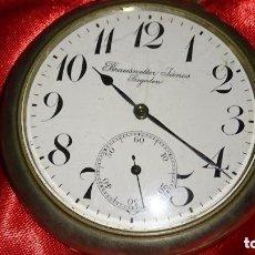 Relojes de bolsillo: GRAN RELOJ BOLSILLO FERROCARRILES 70 MM. GRAN CALIDAD Y BELLEZA MAQUINARIA. 200 GR.. Lote 165768190