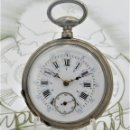 Relojes de bolsillo: RELOJ BOLSILLO 3 TAPAS-PRECIOSA ESFERA-CIRCA 1860-FUNCIONANDO. Lote 165784978