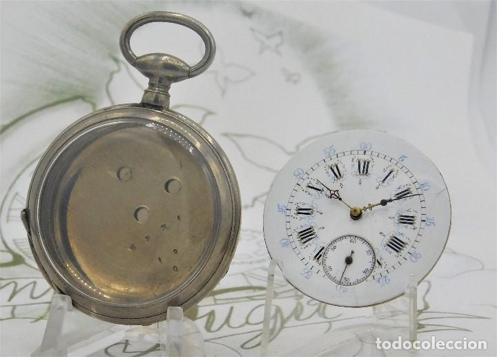 Relojes de bolsillo: RELOJ BOLSILLO 3 TAPAS-PRECIOSA ESFERA-CIRCA 1860-FUNCIONANDO - Foto 2 - 165784978