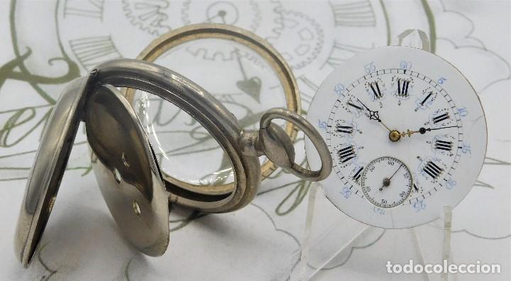 Relojes de bolsillo: RELOJ BOLSILLO 3 TAPAS-PRECIOSA ESFERA-CIRCA 1860-FUNCIONANDO - Foto 3 - 165784978