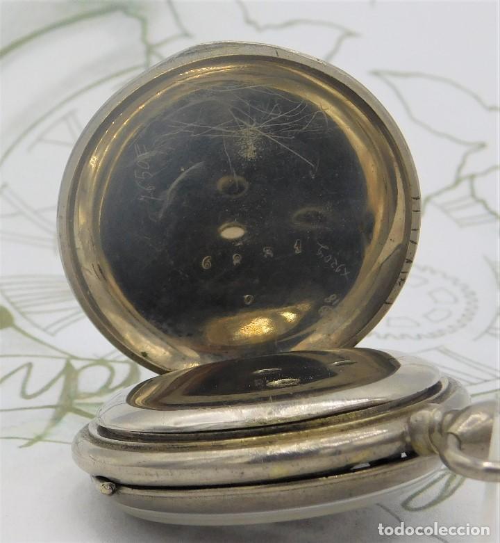 Relojes de bolsillo: RELOJ BOLSILLO 3 TAPAS-PRECIOSA ESFERA-CIRCA 1860-FUNCIONANDO - Foto 5 - 165784978