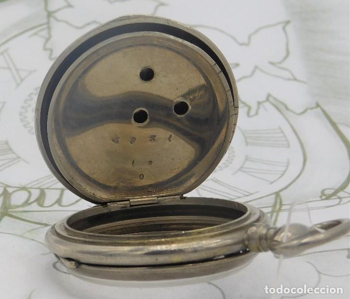 Relojes de bolsillo: RELOJ BOLSILLO 3 TAPAS-PRECIOSA ESFERA-CIRCA 1860-FUNCIONANDO - Foto 6 - 165784978
