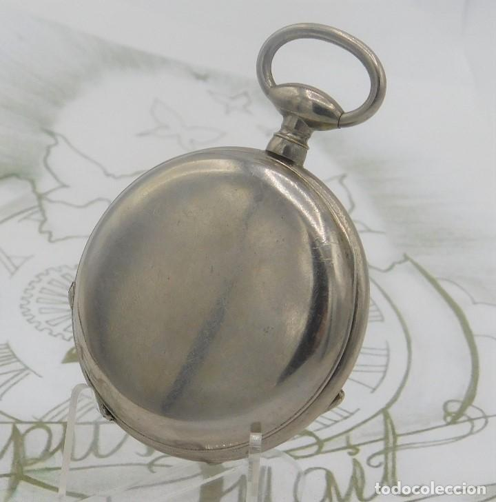 Relojes de bolsillo: RELOJ BOLSILLO 3 TAPAS-PRECIOSA ESFERA-CIRCA 1860-FUNCIONANDO - Foto 7 - 165784978
