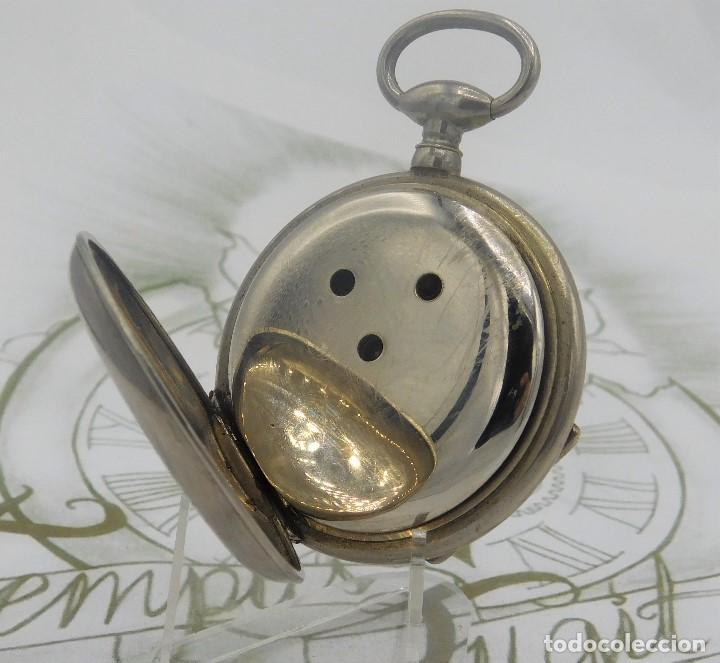 Relojes de bolsillo: RELOJ BOLSILLO 3 TAPAS-PRECIOSA ESFERA-CIRCA 1860-FUNCIONANDO - Foto 8 - 165784978