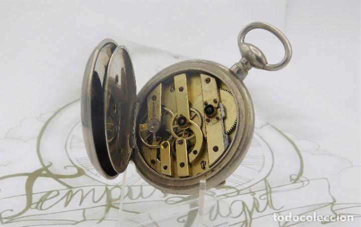 Relojes de bolsillo: RELOJ BOLSILLO 3 TAPAS-PRECIOSA ESFERA-CIRCA 1860-FUNCIONANDO - Foto 9 - 165784978