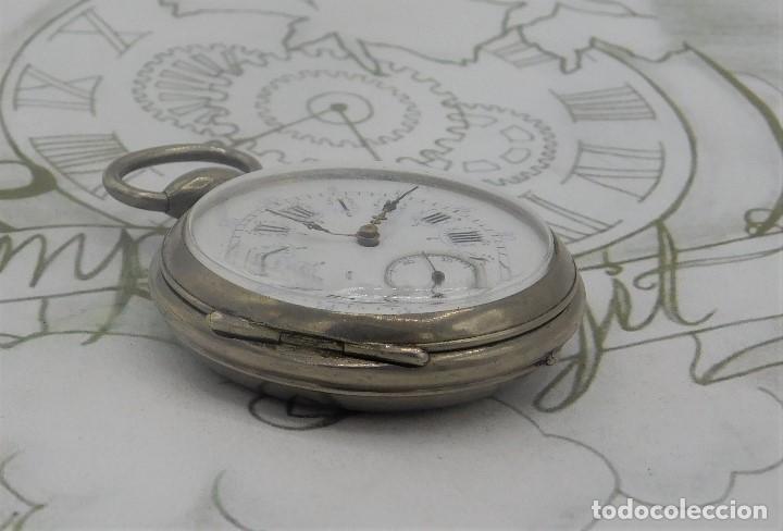 Relojes de bolsillo: RELOJ BOLSILLO 3 TAPAS-PRECIOSA ESFERA-CIRCA 1860-FUNCIONANDO - Foto 10 - 165784978