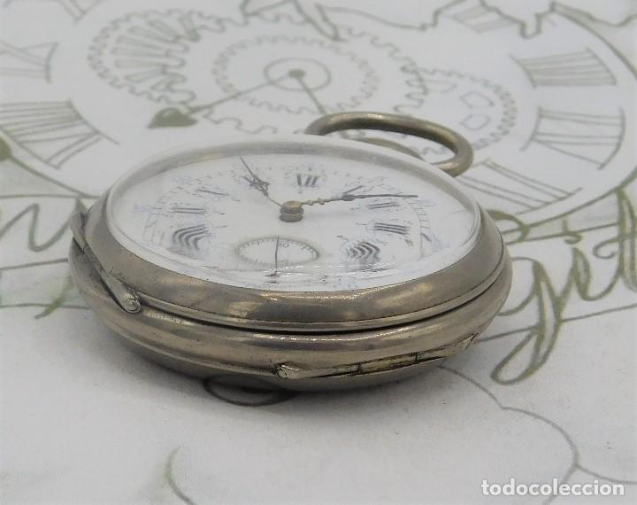 Relojes de bolsillo: RELOJ BOLSILLO 3 TAPAS-PRECIOSA ESFERA-CIRCA 1860-FUNCIONANDO - Foto 11 - 165784978