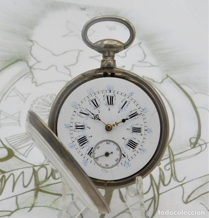 Relojes de bolsillo: RELOJ BOLSILLO 3 TAPAS-PRECIOSA ESFERA-CIRCA 1860-FUNCIONANDO - Foto 12 - 165784978