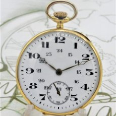 Relojes de bolsillo: RARO Y PRECIOSO RELOJ DE BOLSILLO SUIZO DE ORO 18K-15 RUBÍES-CIRCA 1930-1940-ANÓNIMO-FUNCIONANDO. Lote 165798014