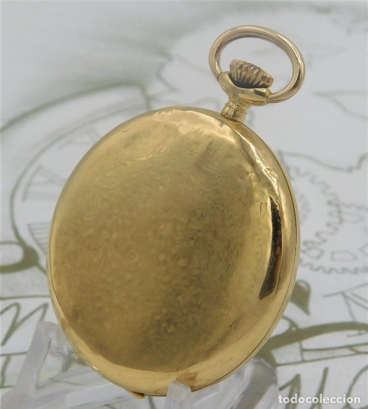 Relojes de bolsillo: RARO Y PRECIOSO RELOJ DE BOLSILLO SUIZO DE ORO 18K-15 RUBÍES-CIRCA 1930-1940-ANÓNIMO-FUNCIONANDO - Foto 7 - 165798014