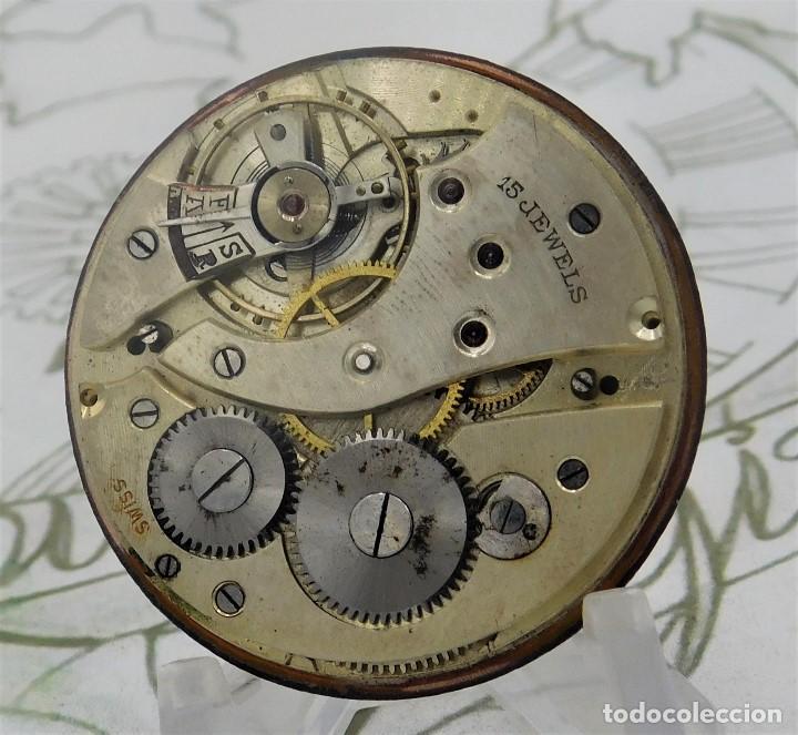 Relojes de bolsillo: RARO Y PRECIOSO RELOJ DE BOLSILLO SUIZO DE ORO 18K-15 RUBÍES-CIRCA 1930-1940-ANÓNIMO-FUNCIONANDO - Foto 9 - 165798014