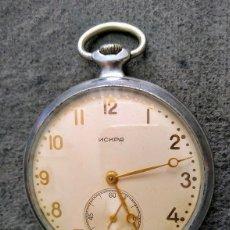 Relojes de bolsillo: ANTIGUO RELOJ DE BOLSILLO RUSO DE LA MARCA MOLNIJA MODELO ISKRA O CHISPA DEL AÑO 1957. Lote 165826586