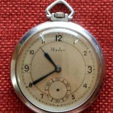 Relojes de bolsillo: FUNCIONANDO - MARCA MAJIC - 15 RUBIS - AÑOS 40 - ACERO - CON MARCAJES. Lote 165829958