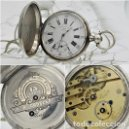 Relojes de bolsillo: CH.H. GROSCLAUDE-PRECIOSO RELOJ DE BOLSILLO SUIZO DE PLATA Y 15 RUBÍES-CIRCA 1880-FUNCIONANDO. Lote 165867250
