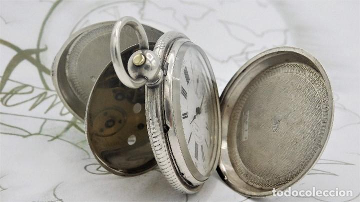 Relojes de bolsillo: CH.H. GROSCLAUDE-PRECIOSO RELOJ DE BOLSILLO SUIZO DE PLATA Y 15 RUBÍES-CIRCA 1880-FUNCIONANDO - Foto 2 - 165867250