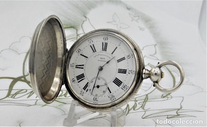 Relojes de bolsillo: CH.H. GROSCLAUDE-PRECIOSO RELOJ DE BOLSILLO SUIZO DE PLATA Y 15 RUBÍES-CIRCA 1880-FUNCIONANDO - Foto 3 - 165867250