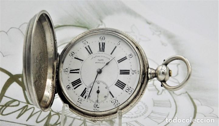 Relojes de bolsillo: CH.H. GROSCLAUDE-PRECIOSO RELOJ DE BOLSILLO SUIZO DE PLATA Y 15 RUBÍES-CIRCA 1880-FUNCIONANDO - Foto 19 - 165867250
