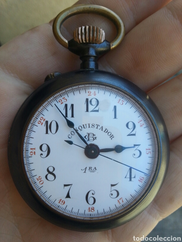 818828e9e1b6 Reloj de bolsillo cónquistador perfecto estado raro - España - Fabuloso  reloj de bolsillo pavonado cónquistadoresta