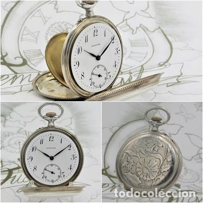 BATAVIER-RARO RELOJ DE BOLSILLO ALEMÁN DE PLATA-CIRCA 1890-1900 -FUNCIONANDO (Relojes - Bolsillo Carga Manual)