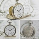 Relojes de bolsillo: BATAVIER-RARO RELOJ DE BOLSILLO ALEMÁN DE PLATA-CIRCA 1890-1900 -FUNCIONANDO. Lote 165882634