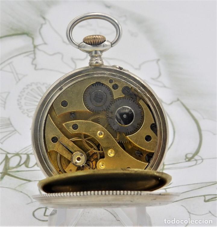 Relojes de bolsillo: BATAVIER-RARO RELOJ DE BOLSILLO ALEMÁN DE PLATA-CIRCA 1890-1900 -FUNCIONANDO - Foto 4 - 165882634