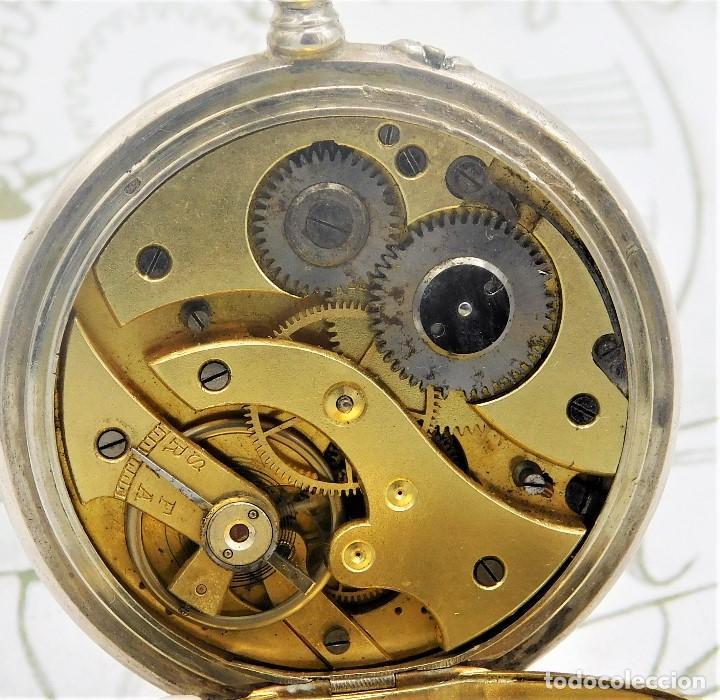 Relojes de bolsillo: BATAVIER-RARO RELOJ DE BOLSILLO ALEMÁN DE PLATA-CIRCA 1890-1900 -FUNCIONANDO - Foto 5 - 165882634