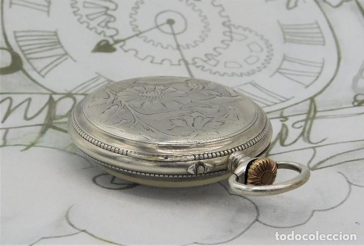 Relojes de bolsillo: BATAVIER-RARO RELOJ DE BOLSILLO ALEMÁN DE PLATA-CIRCA 1890-1900 -FUNCIONANDO - Foto 12 - 165882634