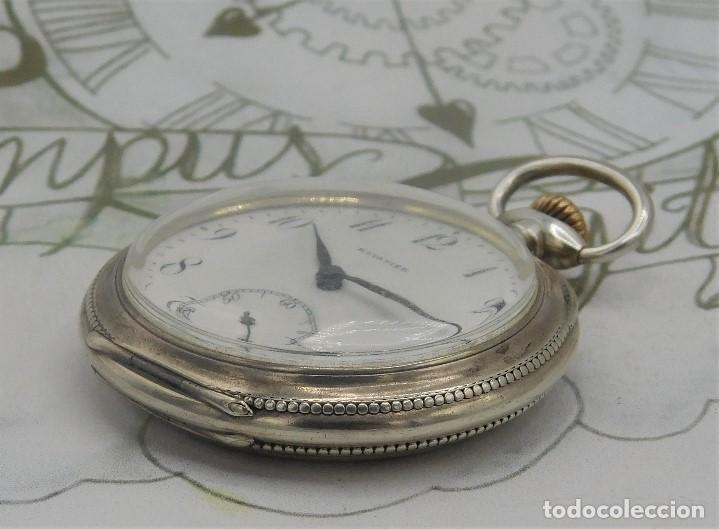 Relojes de bolsillo: BATAVIER-RARO RELOJ DE BOLSILLO ALEMÁN DE PLATA-CIRCA 1890-1900 -FUNCIONANDO - Foto 13 - 165882634