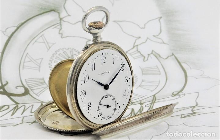 Relojes de bolsillo: BATAVIER-RARO RELOJ DE BOLSILLO ALEMÁN DE PLATA-CIRCA 1890-1900 -FUNCIONANDO - Foto 14 - 165882634