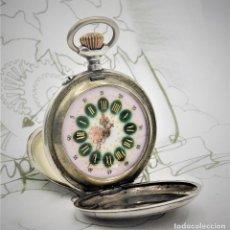 Relojes de bolsillo: VENCEDOR 1ª- SUIZO-MUY RARO RELOJ DE BOLSILLO ROSKOPF SABONETA-DE PLATA-CIRCA 1910-1920 -FUNCIONANDO. Lote 165891646
