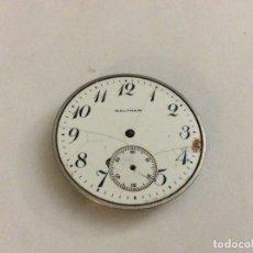 Relojes de bolsillo: MAQUINARIA DE RELOJ WALTHAM CON ESFERA DIAM. 40 MM. Lote 165893406