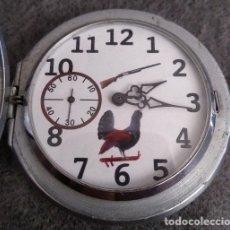 Relojes de bolsillo: ANTIGUO RELOJ DE BOLSILLO DE LA MARCA MOLNIJA CON CURIOSA ESFERA DE CAZA RUSIA AÑOS 60 18 RUBIES. Lote 166166358