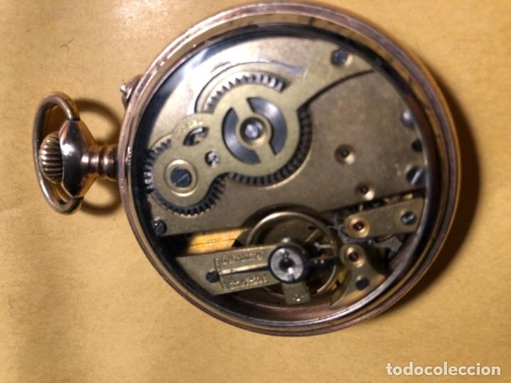 Relojes de bolsillo: Reloj de bolsillo Systeme Roskopf. 51mm Decoración ferroviaria. Funciona. - Foto 2 - 159039290