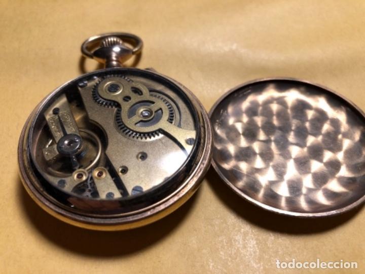 Relojes de bolsillo: Reloj de bolsillo Systeme Roskopf. 51mm Decoración ferroviaria. Funciona. - Foto 3 - 159039290