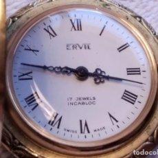 Relojes de bolsillo: RELOJ DE BOLSILLO (ERVIL 17 JEWELS INCABLOC - SWISS MADE) A CUEDA. Lote 198019470