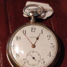 Relojes de bolsillo: RELOJ DE BOLSILLO ZEDA CON SONERIA DE REPETICIÓN A MINUTOS. CAJA DE PLATA VER VÍDEO. Lote 82893264