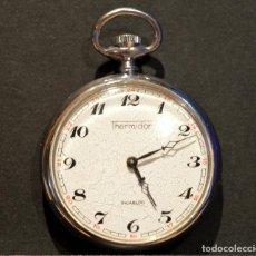 Relojes de bolsillo: EXCELENTE ANTIGUO RELOJ DE BOLSILLO THERMIDOR CARGA MANUAL 17 RUBIS. Lote 166426106