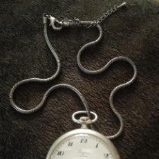 Relojes de bolsillo: RELOJ LONGINES CON LEONTINA. Lote 166478110